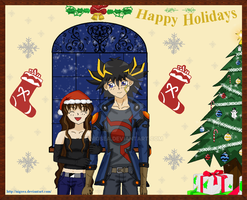 Happy Holidays from Yusei and Yori by Nigsea