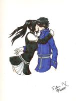 Roy Mustang and Lenalee by SitarHeroIX