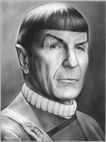 Leonard Nimoy as Mr. Spock in Star Trek by gregchapin