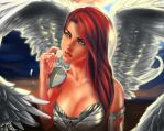 Angel and Flower by Dexteria