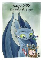 HTTYD HAPPY DRAGON YEAR! by OniBaka