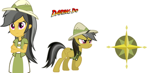Mlp Daring Do Pony And Equestria Girls by jhock775