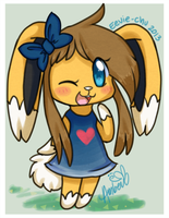 Amber In Animal Crossing by Eevie-chu