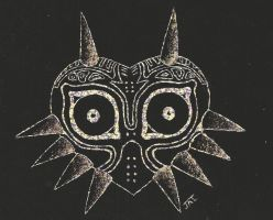 majora's mask scratch art by neodragonarts