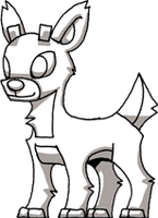 Rudolph the Red Nosed Reindeer Sketch by Hologramzx