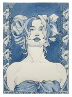 Mucha Girl in color by khallion