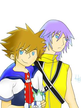 Sora and Riku by memoriesx4