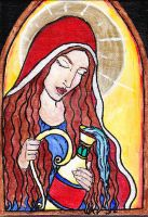 Mary Magdalene Icon by hecatescrossroads