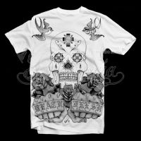Candy Skull and Roses by dfmurcia