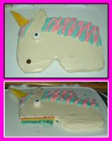 Unicorn cake by estranged-illusions