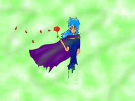 Ember in a cape with a rose :D by YugiohFanatic789