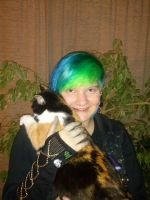 Just my 'lil cat and me by Abstract-scientist