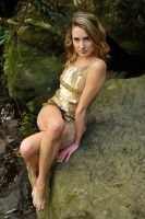 Zoe - golden girl seated 1 by wildplaces