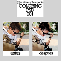 +Recursos: Coloring Psd 001 by Whatever-Photopacks