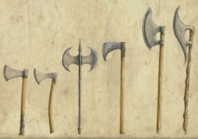 Axes by Erkahoth