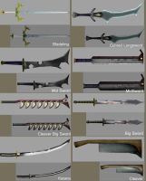 Weapon Textures - Blades by BlueSerenity