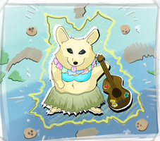 Ukulele Hawaiian Dog Of Wind And Thunder by blayzeon