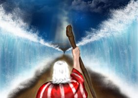 Moses Parts the Red Sea by BrainboxMedia