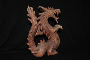 Wooden Chinese Dragon Stock 01 by ponystock