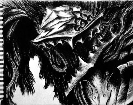 Berserk (from famous manga panel) by CellofanKlay