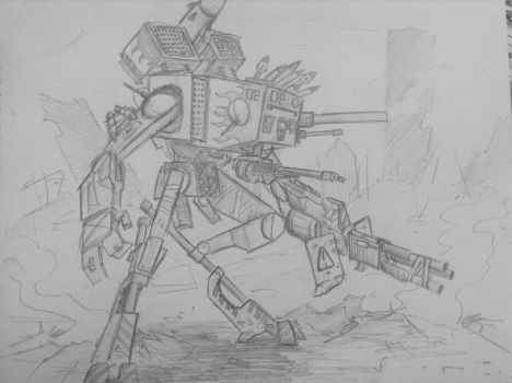Giant Killer Robot by woundedskies