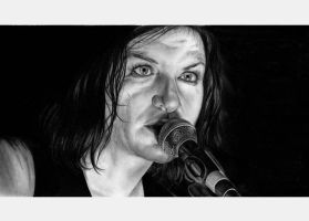 Brian Molko's Portrait by Hilly16