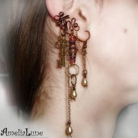 Mysterious bronze ear cuff by AmeliaLune