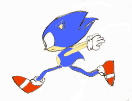 Sonic Drawing 2 Colored by namatamiku