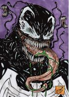 venom portrait inked by darkartistdomain