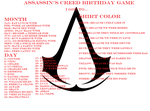 Birthday Game Assassin's Creed by queen-of-olympus