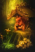 Squirrel from a fairy tale by LiliaOsipova