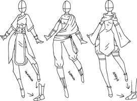 Outfit designs by Pandabell171