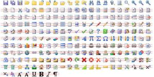 16x16 Office Toolbar Icons by Ikont