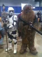 Storm Trooper and Chewy by JamesRolfeII