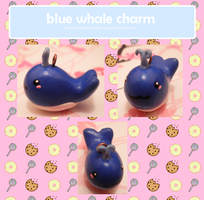 blue whale charm by MiniatureTemptations