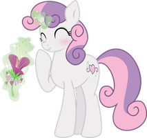 Flowers For Sweetie Belle by Syekun