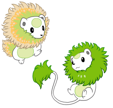 GA: Lime and Cantaloupe squeeks by Boltonartist