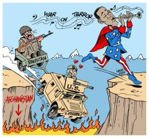 Obama Pied Piper of Washington by Latuff2