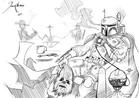 Boba fett went on Hunting ! by BigJozz