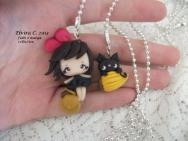 kiky's delivery service necklace by elvira-creations