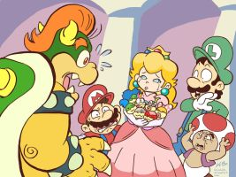 Bowser + Peach: The Revelation by kevinbolk