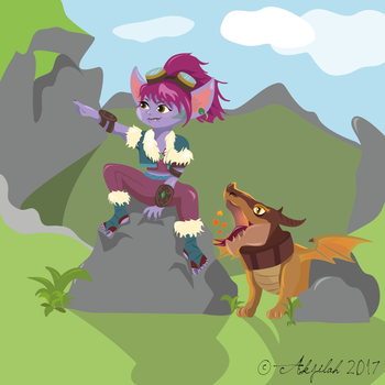 Dragontrainer Tristana by Akjilah