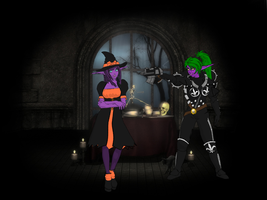 Halloween: Lyris and Miariel by NDT2000