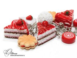 Bracelet with cakes by OrionaJewelry