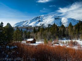 Snowy cabin2 by MartinGollery