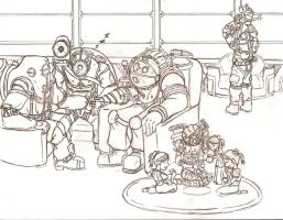 Family reunion sketch by evill33tchaos