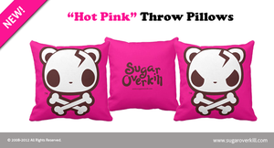 Hot Pink Throw Pillows by mAi2x-chan