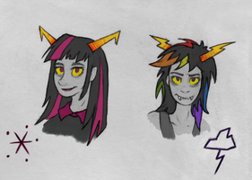 MLP:FiM + Homestuck #1.5 colored hair by SparkleStarCat