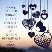Pendant Hearts Premium Brushes by Romenig