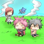 Natsu, Gray and Erza kids by TimTam13